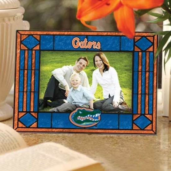 Florida Gators Royal Blue Art-glass Horizontal Picture Frame