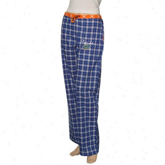 Florida Gators Royal Blue Plaid Heritage Woven Pajama Pants