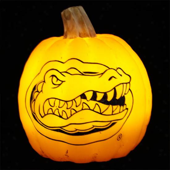 Florida Gatos Wax Pumpkin Luminary