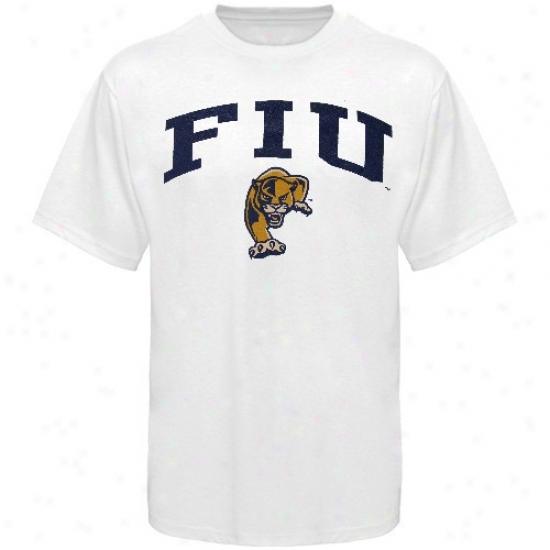 Florida International Golden Panthers Tee : Florida International Golden Panyhers Youth White Bare Essentials Tee