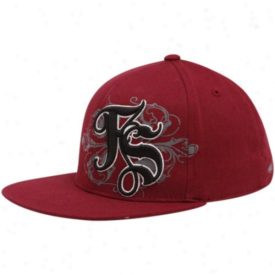 Florida State Hat : Top Of The World Florida State (fsu) Garnet Luxury 1-fit Flex Cardinal's office