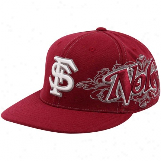 Florida State Hats : Top Of The World Florida State (fsu) Garnet Quake 1-fit Flex Hats
