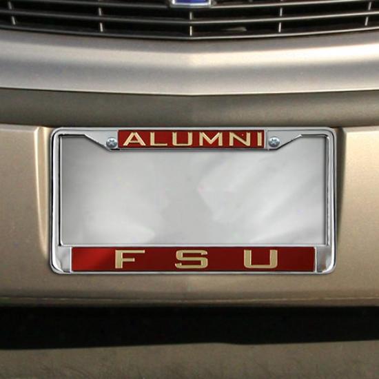 Florida State Seminoles (fsu) Alumni Chrome License Plate Frame