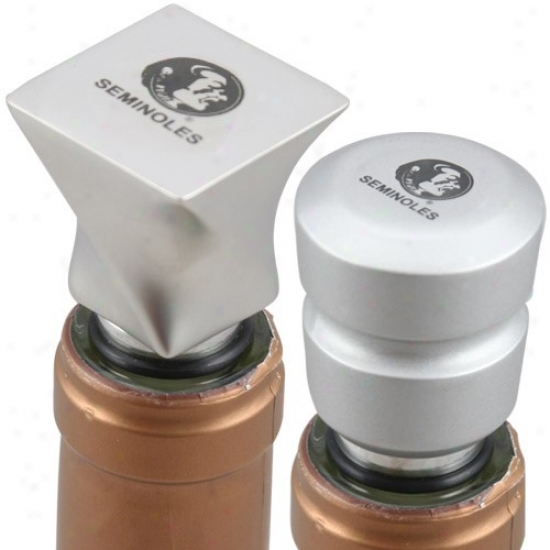 Florida State Seminoles (fsu) Brrushed Metal Wine Stoppers