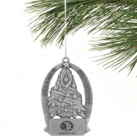 Florida State Seminoles (fsu) Christmas Tree Ornament