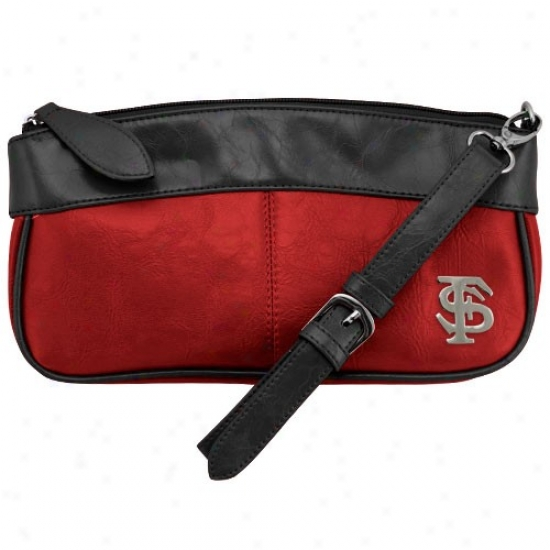 Florida State Seminoles (fsu) Garnet-black Quarterback Clutch Purse