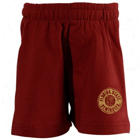 Florida State Seminoles (fsu) Infant Garnet Distressed Logo Shorts
