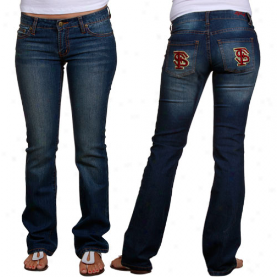 Florida Rank Seminoles (fsu) Ladies Signature Logo Jeans