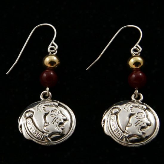 Florida State Seminoles (fsu) Logo Earrings