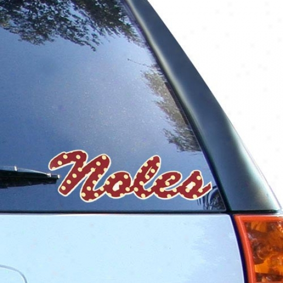 Florida State Seminoles (fsu) Polka Dot Car Decal