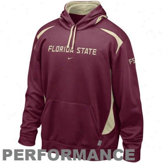 Florida State Sweat Shirt : Nike Florida State (fsu) Garnet Power Pullover Performance Sweat Shirt