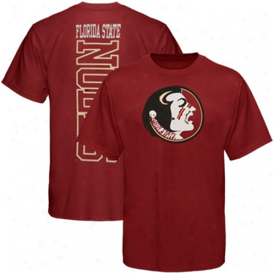 Florida State University Apparel: Florida State University (fsu) Garnet Big Vert T-shirt