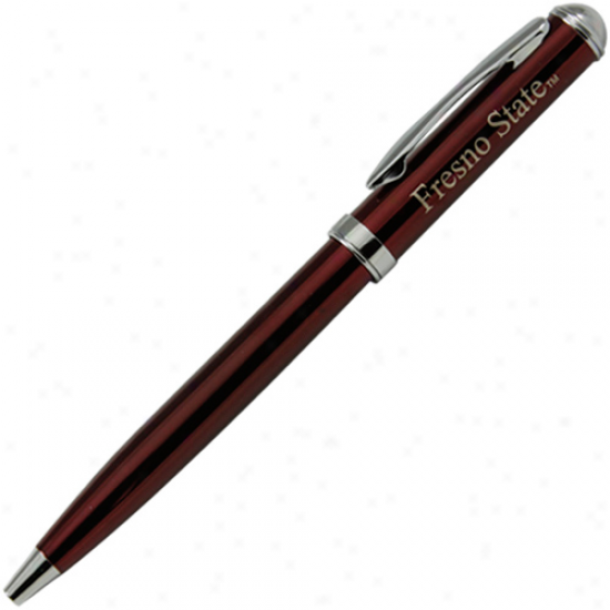 Fresno State Bulldogs  Burgundy Click Action Gel Ink Pen