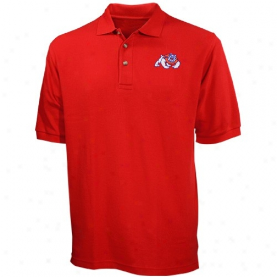 Fresno State Bulldogs Clothes: Fresno Staye Bulldogs  Cardinal Pique Polo