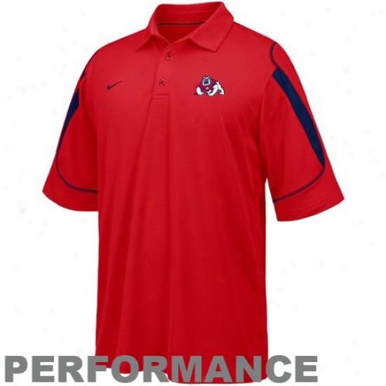 Fresno State Bulldogs Clothes: Nike Fresno State Bulldogs Scarlet Stiff Arm Performance Polo