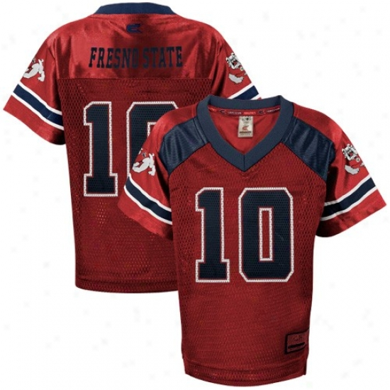Fresno State Bulldogs Jerseys : Fresno State Bulldogs  #10 Preschool Principal Game Day Football Jerseys