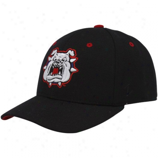 Fresno State Bulldogs Merchandise: Fresno State Bulldogs  Black Dhs Fitted Cardinal's office
