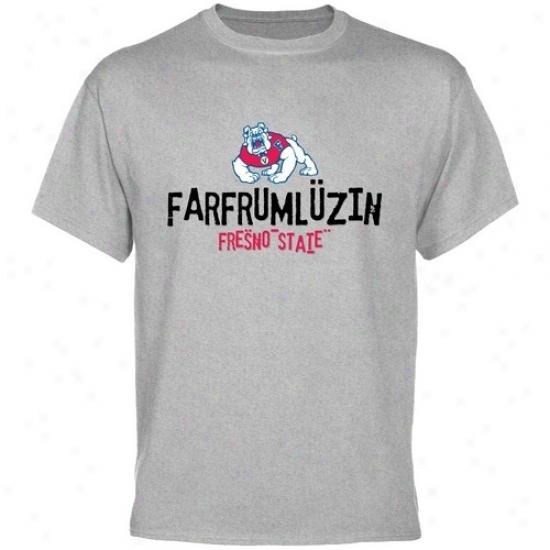 Fresno Satte Bulldogs T-shirt : Fresno State Bulldogs Ash Farfrumluzin T-shirt
