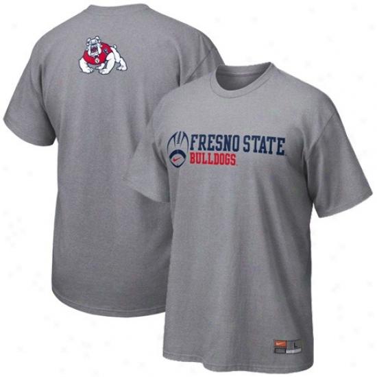 Fresno State Bulldogs Tshirt : Nike Fresno State Bulldogs Ash Practice Tshirt