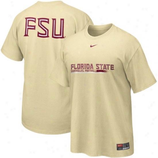 Fsu Attire: Nike Fsu (fsu) Gold 2010 Practice T-shirt
