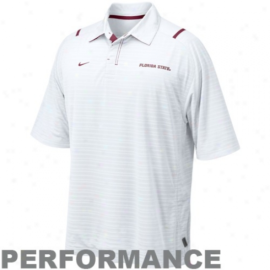 Fsu Clothes: Nike Fsu (fs)i White Conference Corner Performance Polo