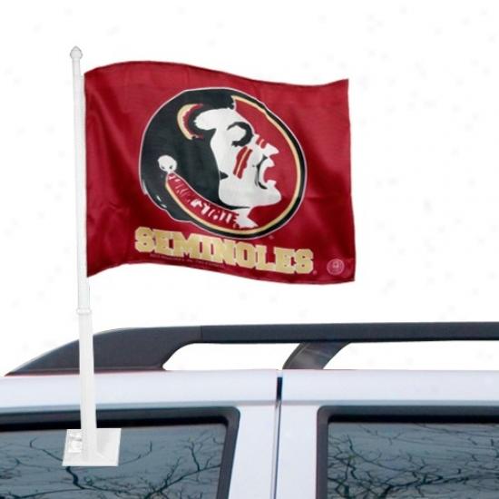 Fsu Seminole Banners : Fsu Seminole (fsu) Garnet Car Banners
