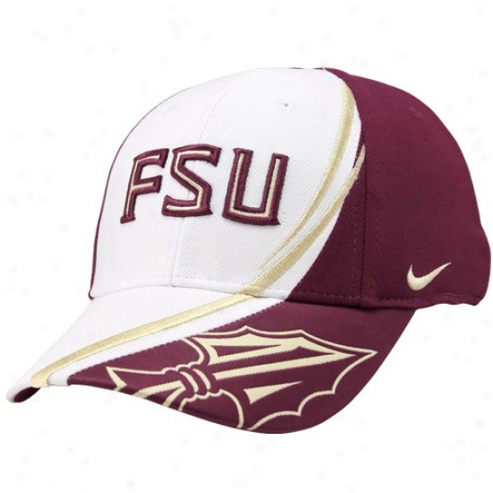 Fsu Seminole Cap : Nike Fsu Seminole (fsu) White Conference Red Zone Flex Fit Cap