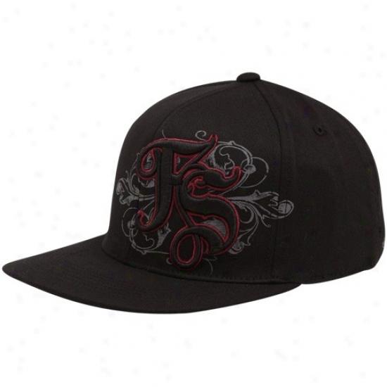 Fsu Seminoles Hats : Top Of The World Fsu Seminoles (fzu) Black Luxury 1-fit Flex Hats
