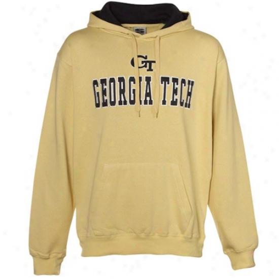 Ga Tech Sweatshirt : Georgia Tech Yellow Jackets Old Gold Classic Twill Sweatshirt