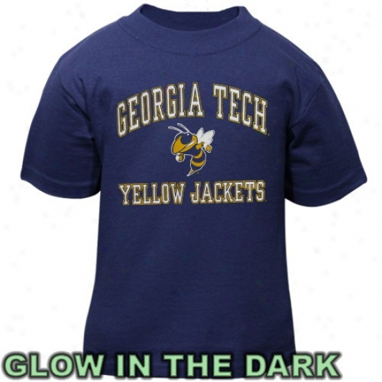 Ga Tech Yellow Jacket Attire: Georgia Tech Yellow Jackets Toddler Navy Blue Glow-in-the-dark T-shirt