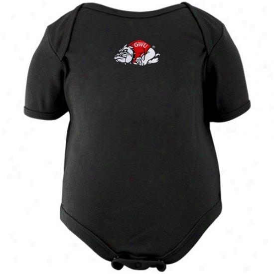 Gardner Webb Runnin' Bulldofs Infant Black Logo Embroidered Creeper