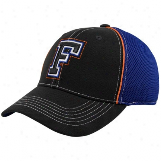 Gator Hats : Top Of The World Gator Charcoal-royal Blue Linerider Flex Fit Hats