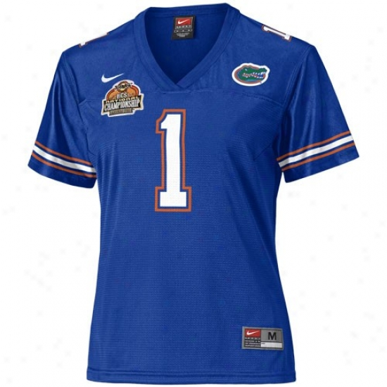 Gator Jersey : Nike Gator #1 Royal Blue Ladies 2007 Bcs National Championship Game Replica Jersey