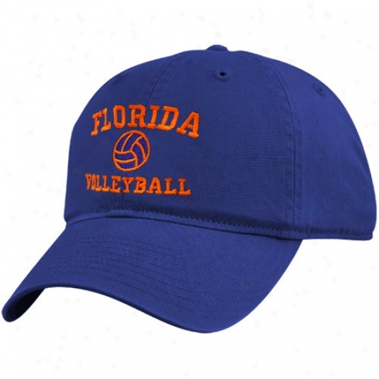 Gator Merchandise: Top Of The World Gator Royal Blue Volleyball Sport Lower Adjustable Hat