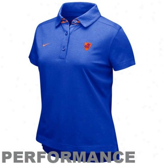 Gator Polo : Nike Gator Ladies Kingly Blue As If Performance Polo