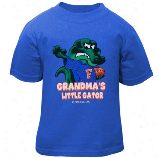 Gator Tee : Gator Infant Royal Blue Grandma's Little Gator Mascot Tee