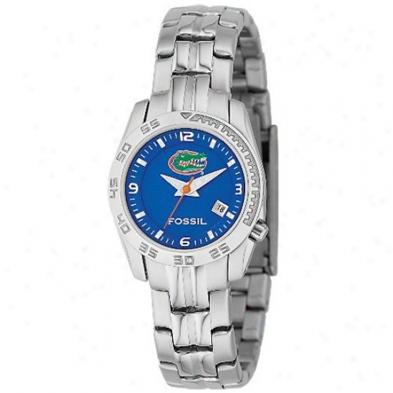 Gator Watch : Fossil Gator Ladies Stainless Steel Analog Sport Watch