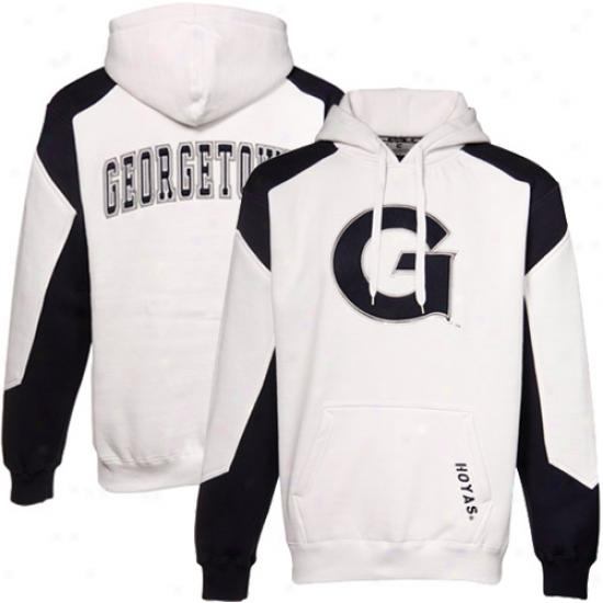 Georgetown Hoyas Hoodies : Georgetown Hoyas White-navy Blue Challenger Hoodies