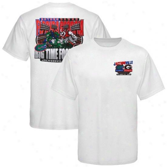 Geotgia Bulldog Tshirt : Florida Gators Vs. Georgia Bullldog Youth White Mascot Matchup Tshirt
