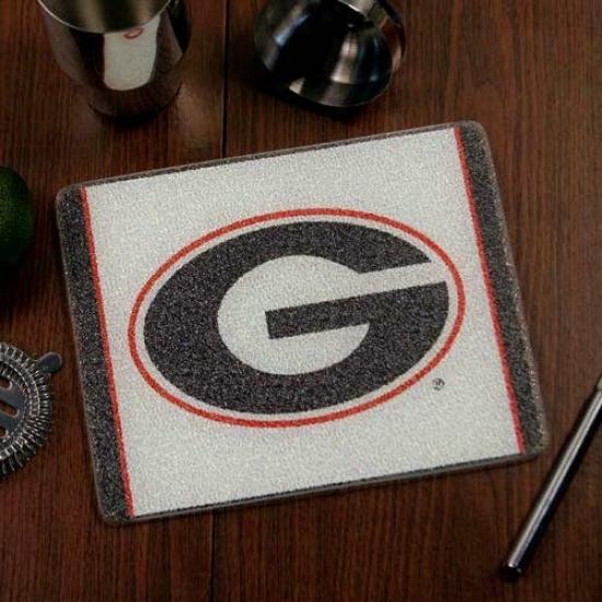 Georgia Bulldogs 10'' X 8'' Tempered Glass Cutting Board