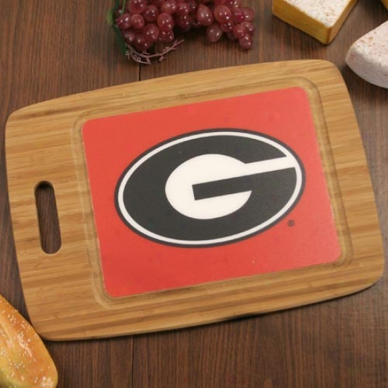 Georgia Bulldogs 15.25'' X 11'' Bamboo Severe Board