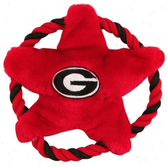 Georgia Bulldogs 9'' Fluing Rope Disk Dog Toy