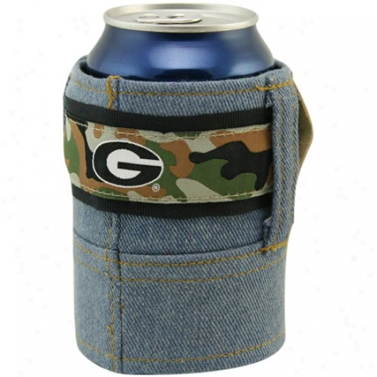 Georgia Bulldogs Camo Brew Jean Can Coolie