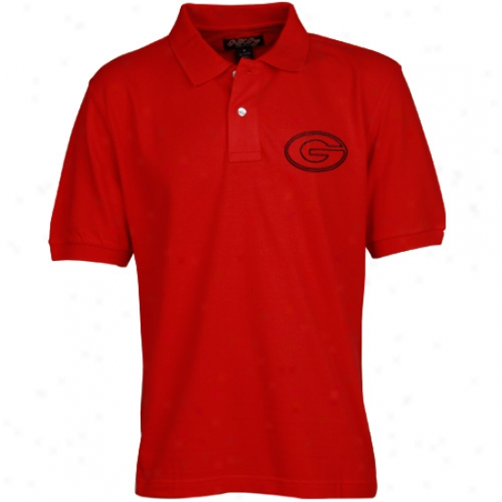 Georgia Bulldogs Clothes: Georgia B8lldogs Red Knockout Pique Polo