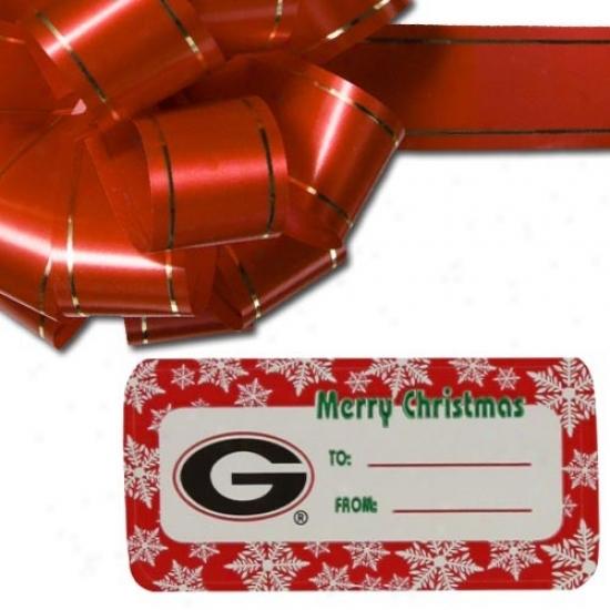Georgia Bulldogs Holiday Gift Tags
