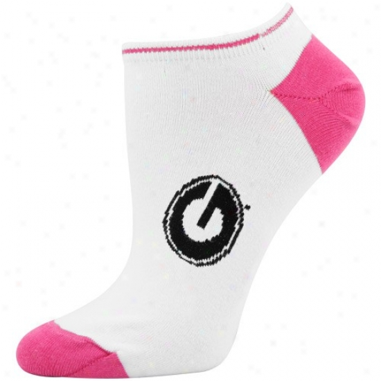 Georgia Bulldogs Ladies White-hot Pink Ankle Socks