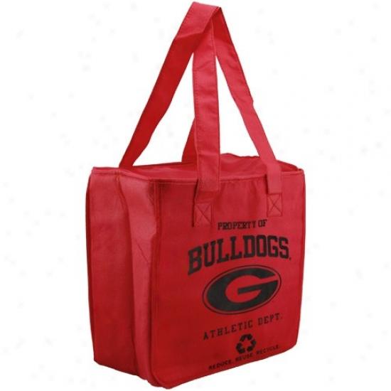 Georgia Bulldogs Red Reusable Insulated Carry Bag