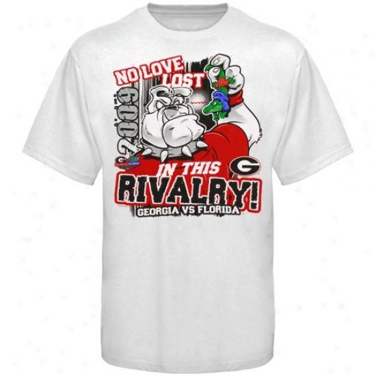 Georgia Bulldogs Shirt : Georgia Bulldogs Vs. Florida Gators Youth White 2009 No Love Lost Rivalry Shirt
