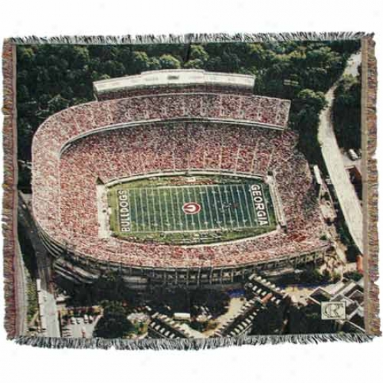 Georgia Bulldogs Stadium Throw Blanket