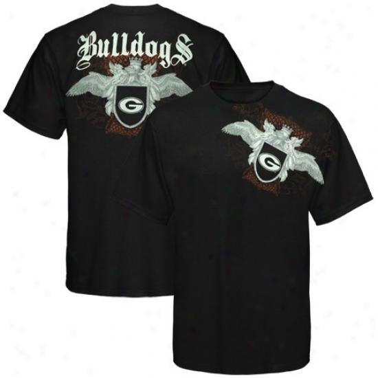Georgia Bulldogs Tee : My U Georgia Bulldogs Black Monarch Tee